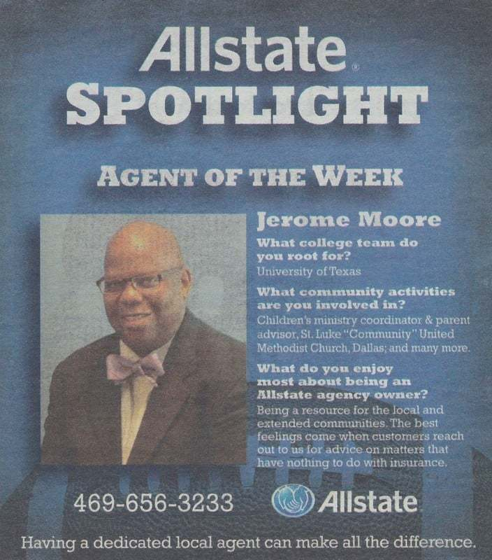 Homeowners Insurance Quotes Texas: Jerome Moore: Allstate Insurance, Allen Texas (TX