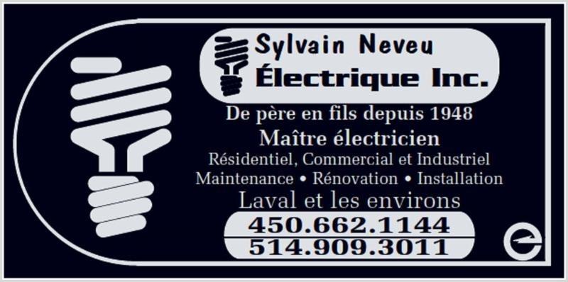 Sylvain Neveu Electrique Inc à Laval