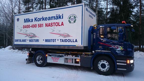 Kuorma-autoilija Mika Korkeamäki