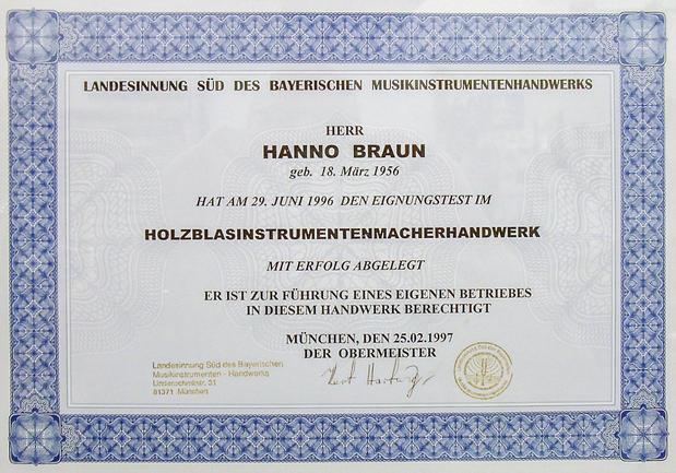 Kundenbild klein 4 Hanno Braun Holz- und Blechblasinstrumente