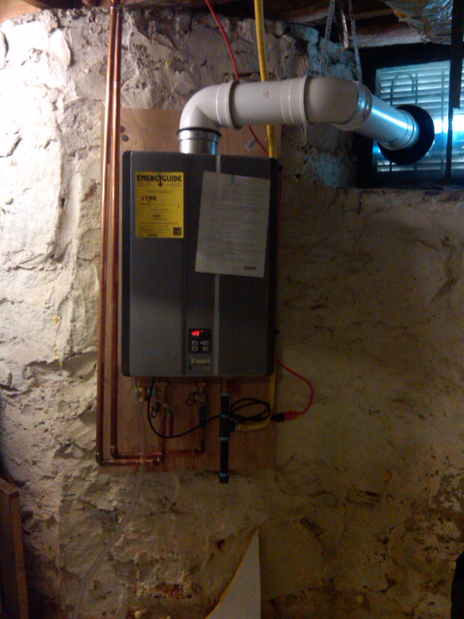 Tankless water heater install in Brookhaven, Ga