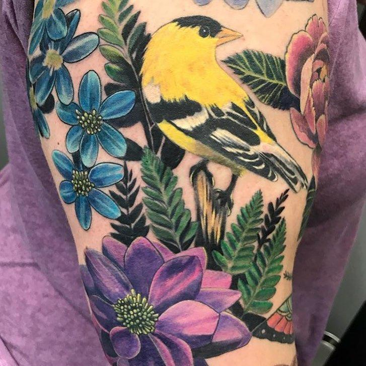 Bird tattoo Inksomnia Tattoo and Body Piercing Alpharetta (678)867-9000
