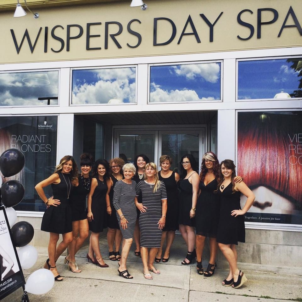 Wispers Hair & Day Spa in Cambridge: Wispers Team-Grand Opening Day