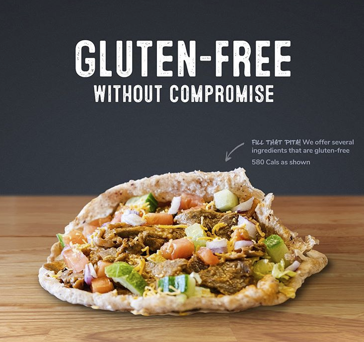 Pita Pit in Guelph: Thinking about eating gluten-free? Pita Pit makes it easy.  Get it rolled in a gluten-free pita, or bowled and loaded with fresh veggies. ⠀ ⠀ Check out our gluten-free guide online at https://pitapit.ca/glutenfree.