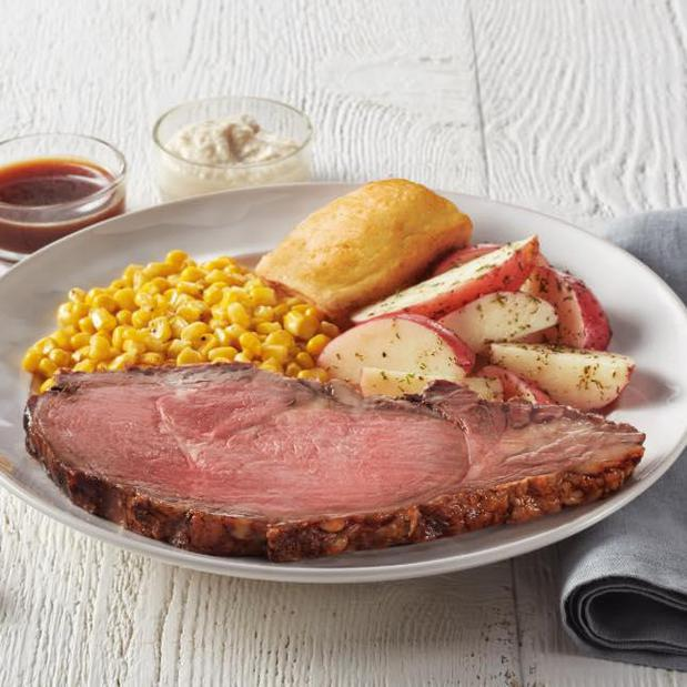 Rotisserie Prime Rib: Available Sundays starting at 2:00 and Wednesdays starting at 4:00. While supplies last.