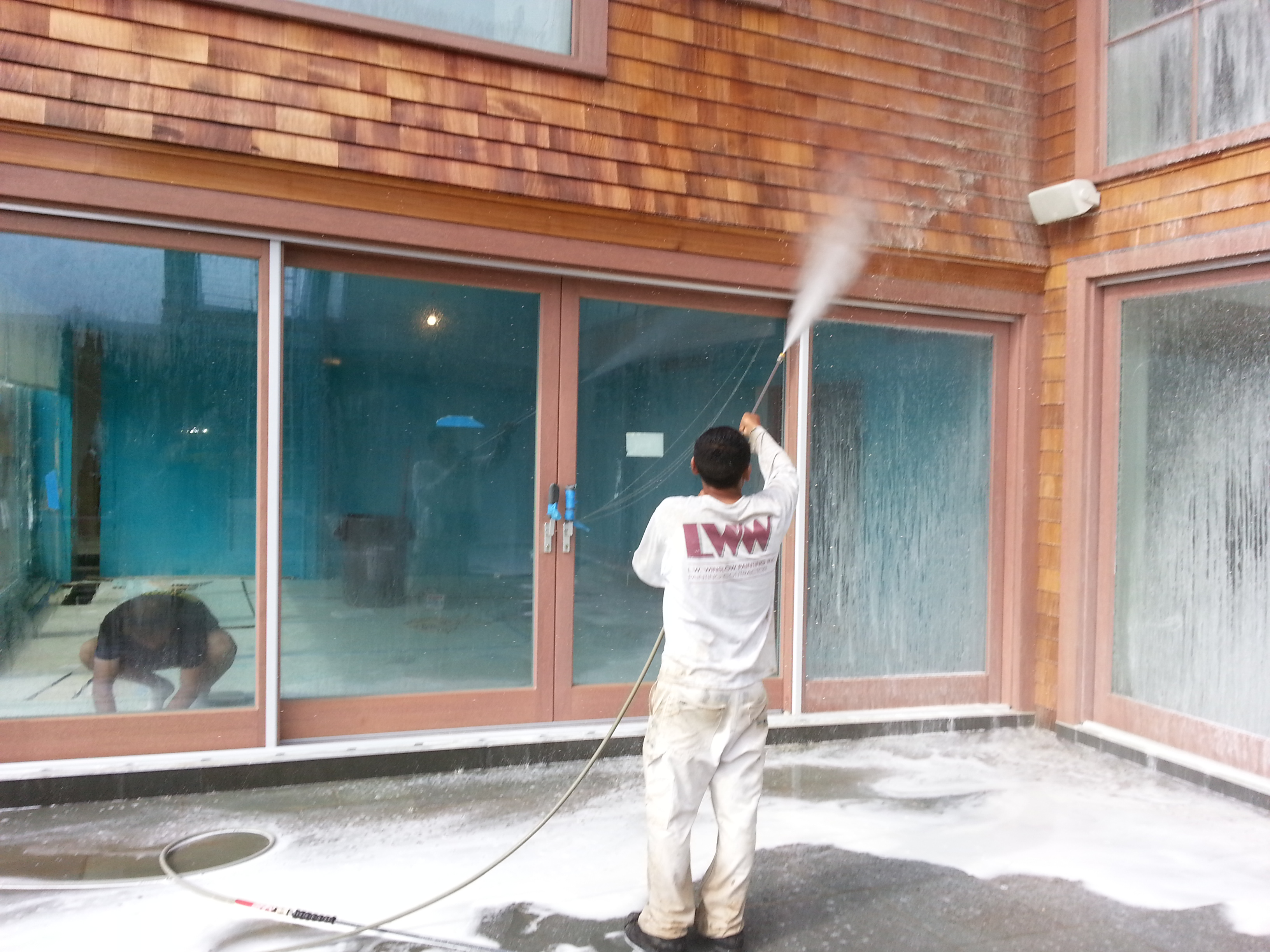 Powerwashing to make your home look new again. L.W. Winslow Painting, Inc. Amagansett (631)267-6863