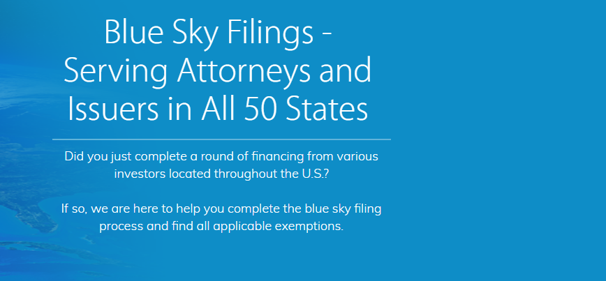 Blue Sky Filings In New York Ny 10018 Chamberofcommerce Com