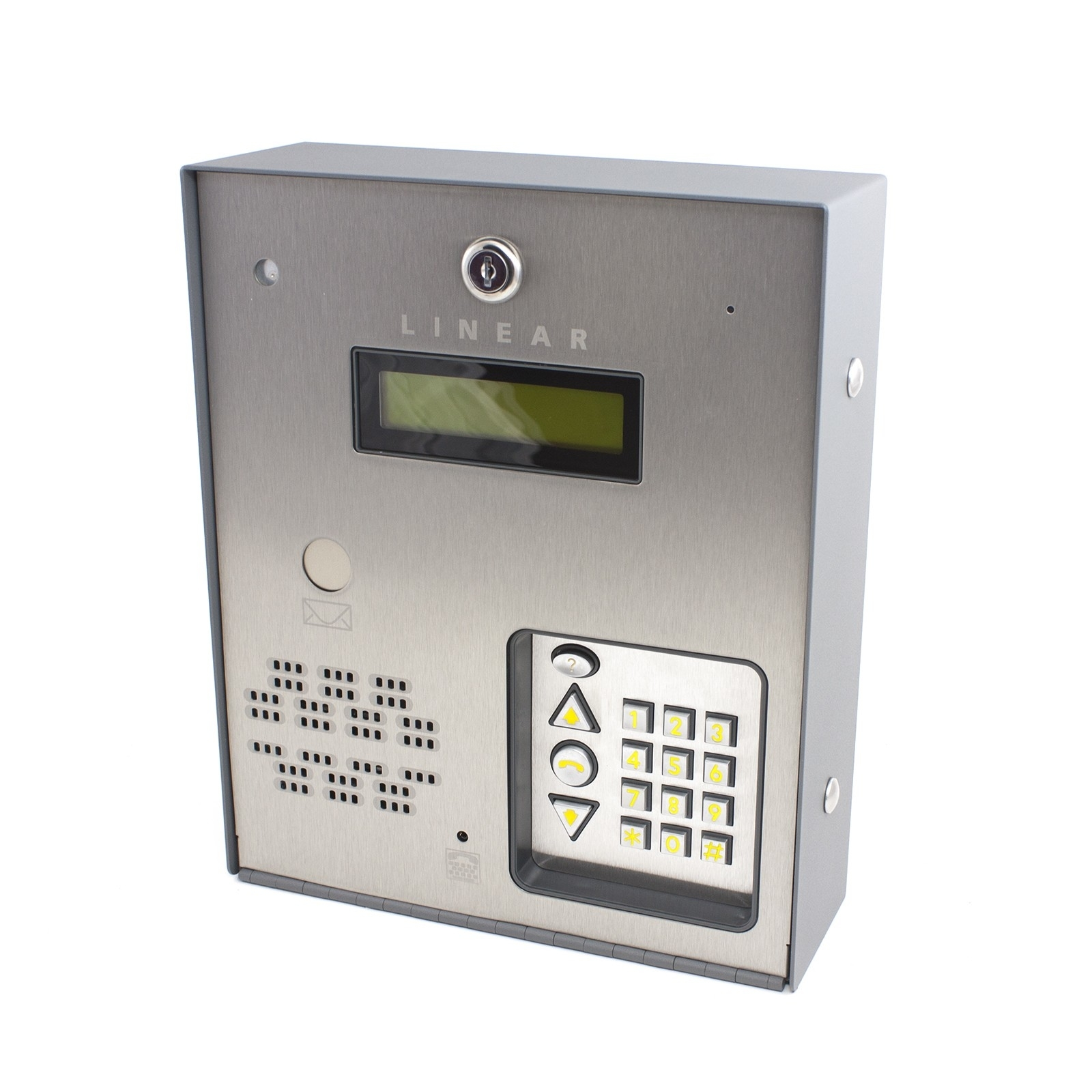 The Linear AE-100 Commercial Telephone Entry System is designed for use as a primary access control  Best Security Okanagan Kelowna (250)826-8395
