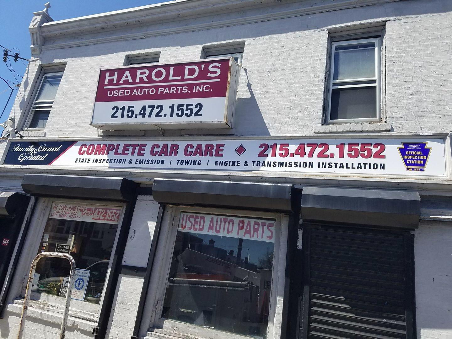 Harold's Used Auto Parts, Inc. is a small family owned business in Southwest Philly. Started over 30 years ago, Harold Sr. worked diligently to build a business based on loyalty,trust and affordability for his customers.