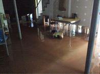 Flooded basement from Charlottesville storm damage.