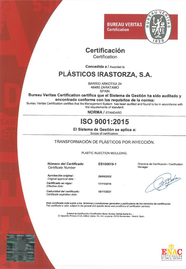 Plásticos Irastorza S.A.