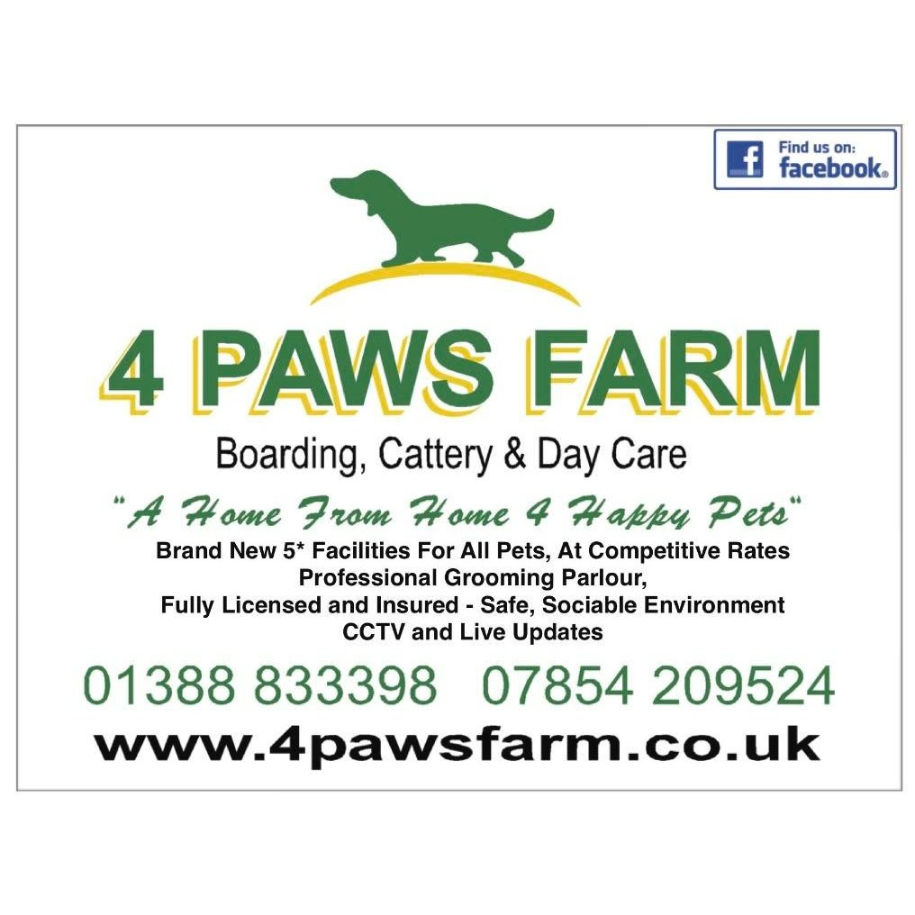 4 Paws Farm - Bishop Auckland, Durham DL14 0NB - 01388 833398 | ShowMeLocal.com