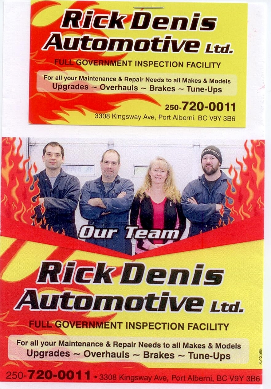 Rick Denis Automotive Ltd Port Alberni (250)720-0011
