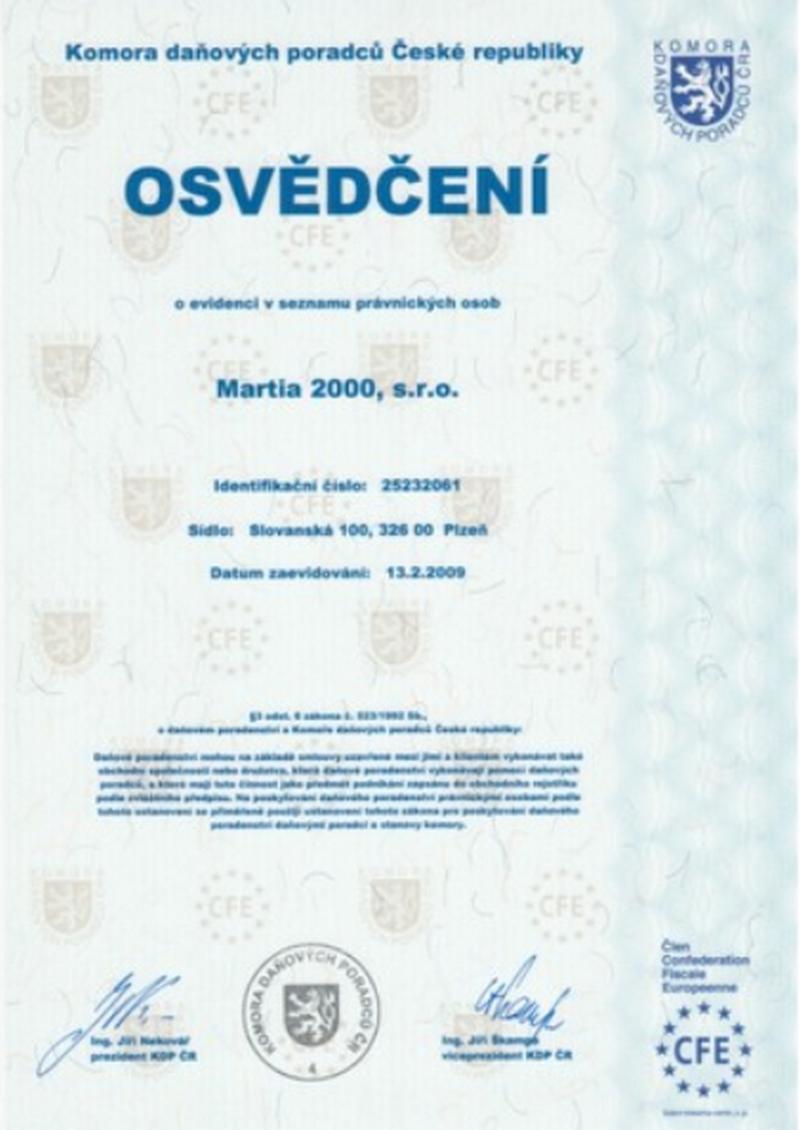 Martia 2000, s.r.o.
