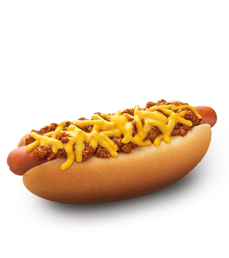 SONIC's Premium Beef Chili Cheese Coney is a grilled beef hot dog topped with warm chili and melty cheddar cheese served in a soft, warm bakery bun.