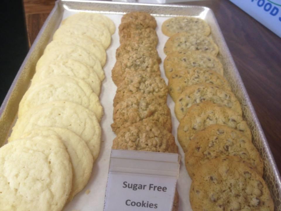 We offer an assortment of fresh baked cookies.