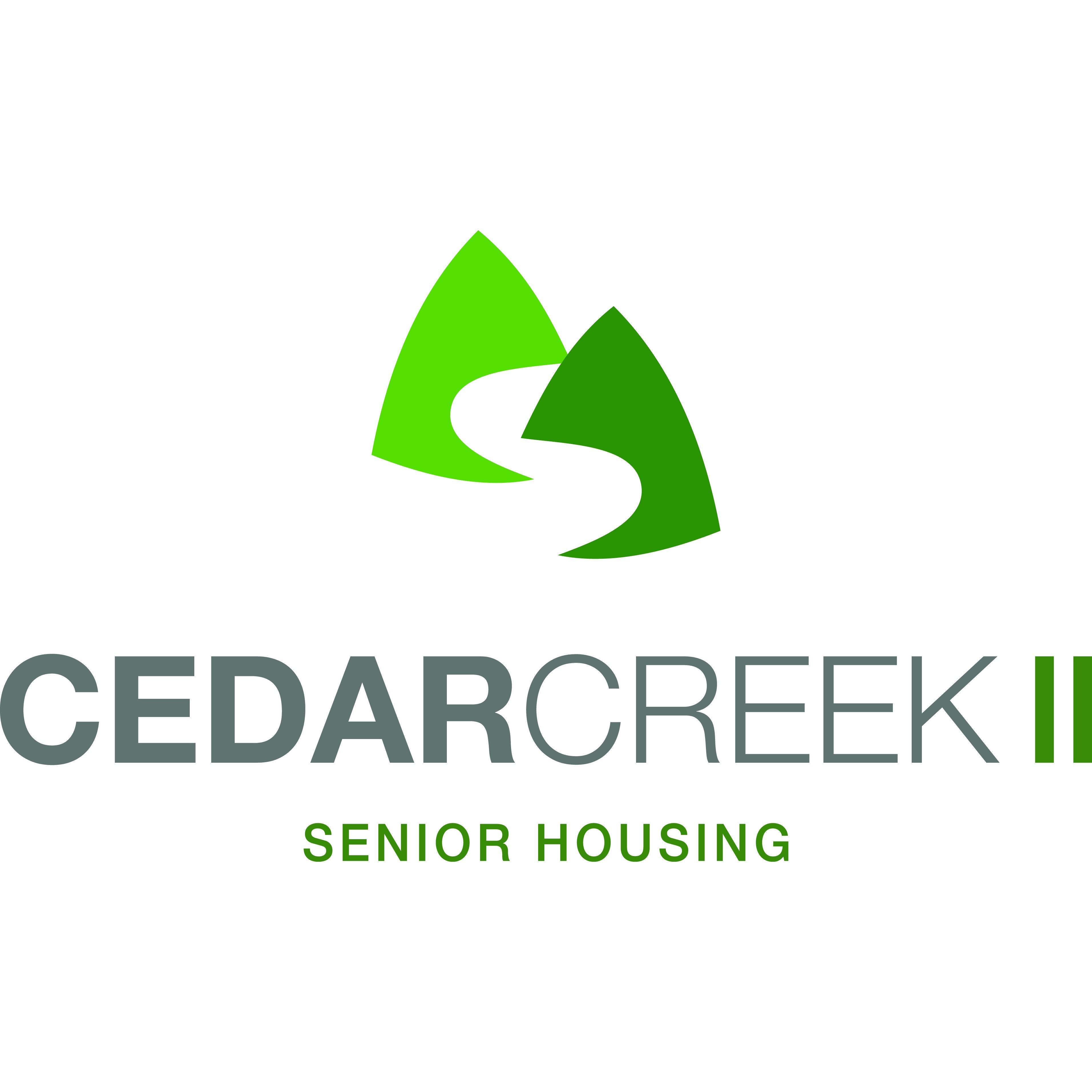 cedar creek senior singles About cedar creek senior apartments 55+ cedar creek senior apartment homes offers spacious one and two bedroom units with a/c, ceiling fan, walk-in closets, refrigerator, stove, dishwasher, garbage disposal, washer/dryer hook-ups and balcony/patio.
