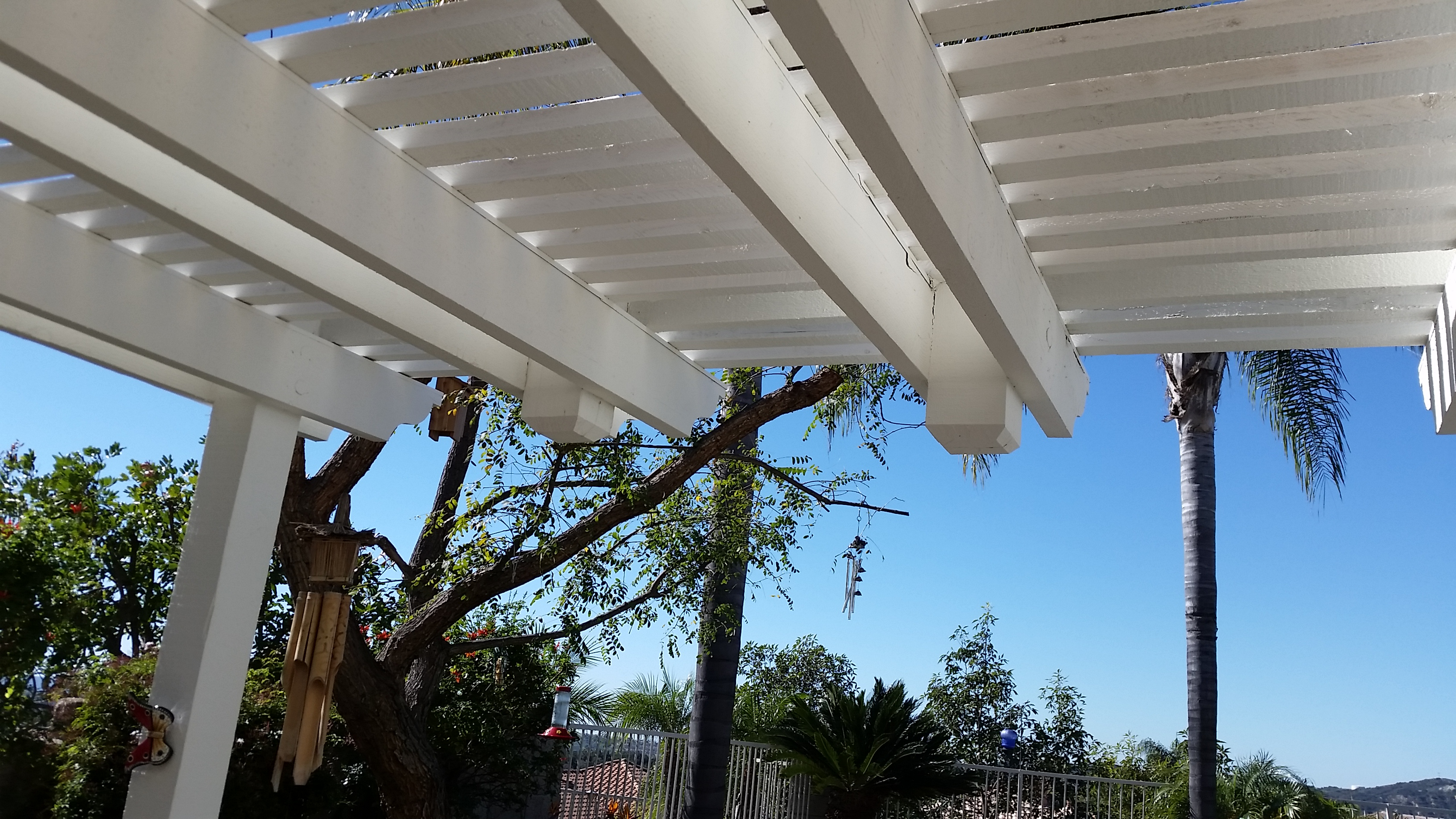 Wood Pergolas & Patio Covers Irvine with Blue Knight