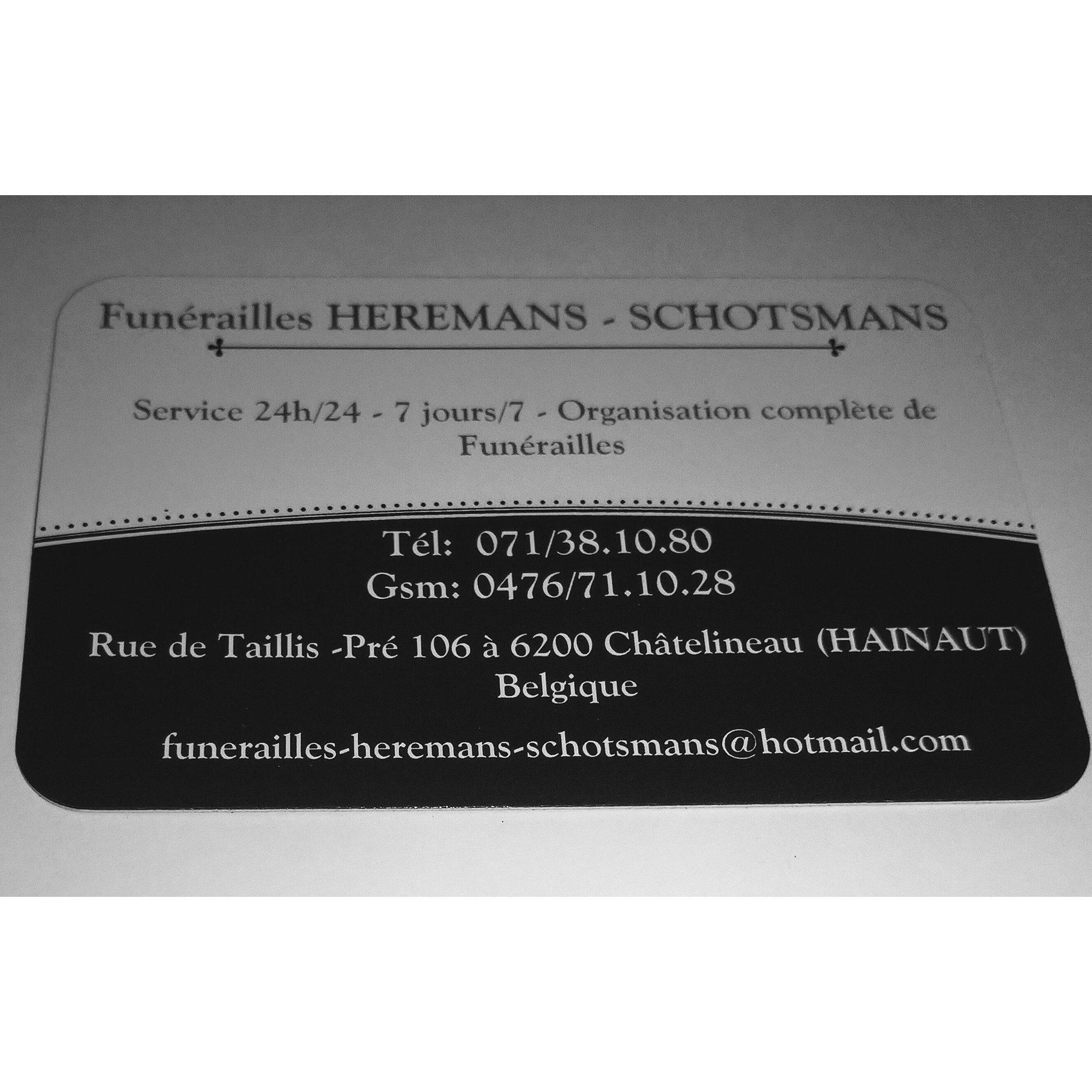 Funérailles Heremans-Schotsmans