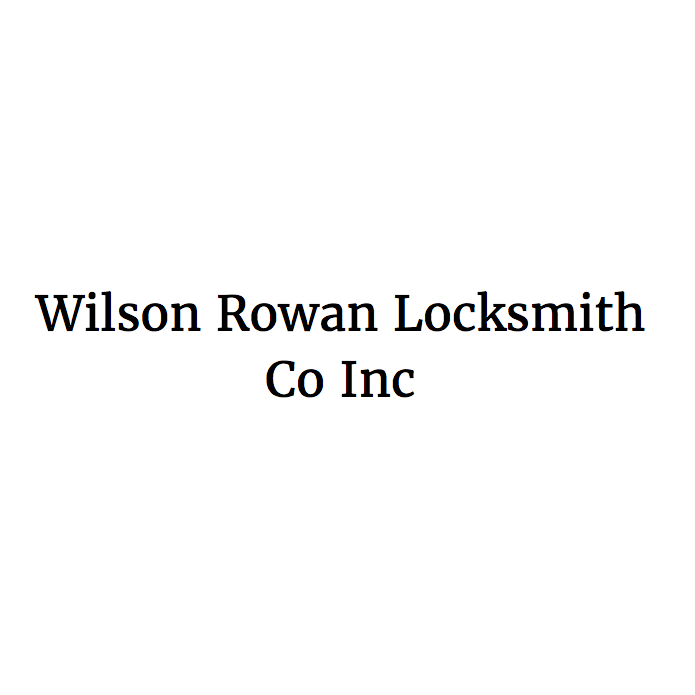 Wilson Rowan Locksmith Co Inc