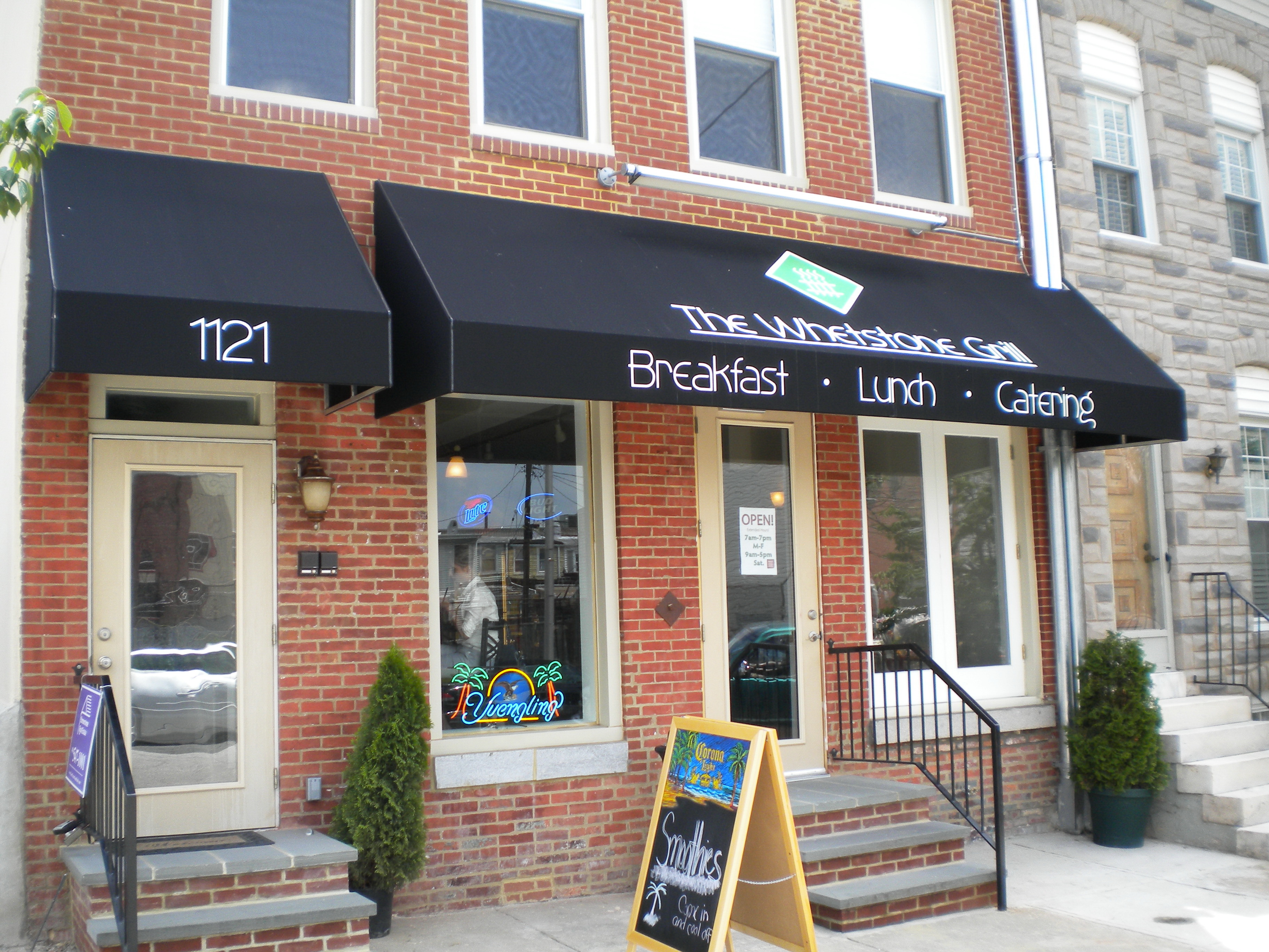 Small Business Awning A storefront awning is the best way to advertise your business Call A. Hoffman Awning in Baltimore     410-685-5687