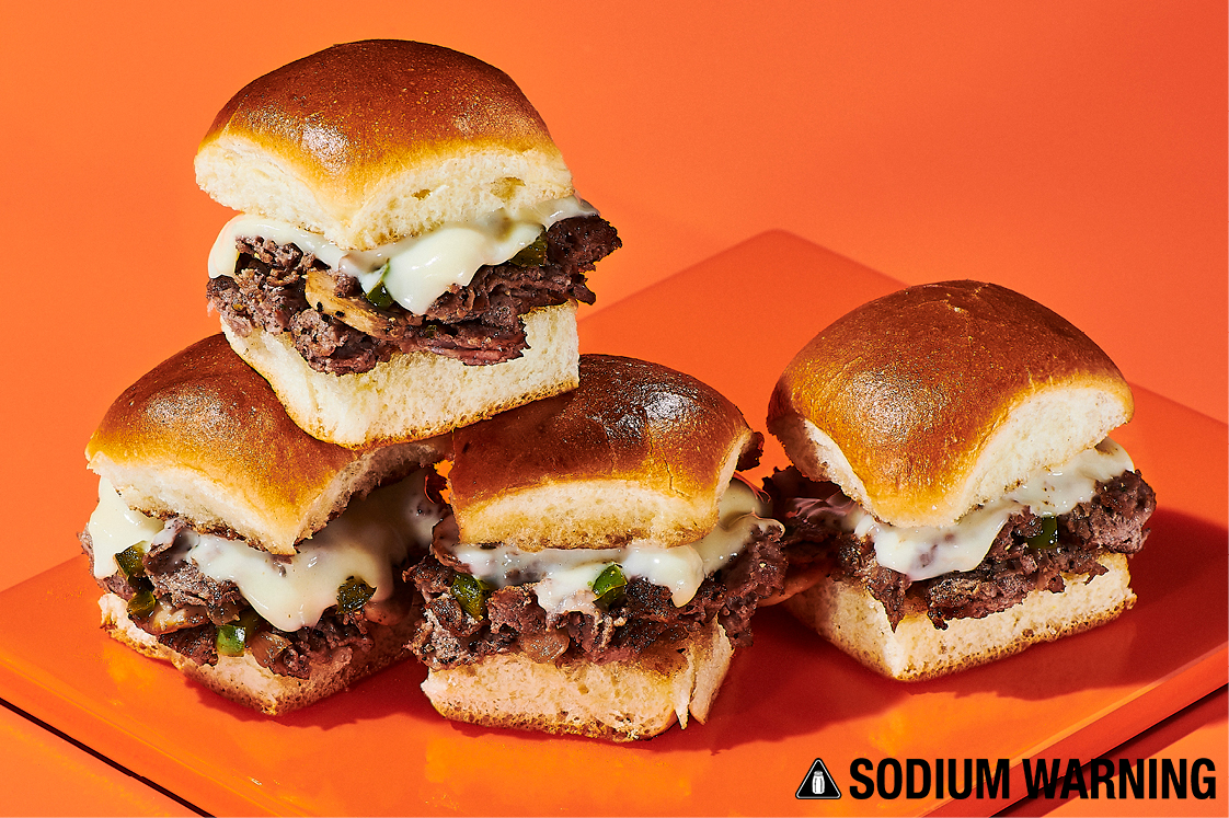 Loaded Philly Cheesesteak Sliders