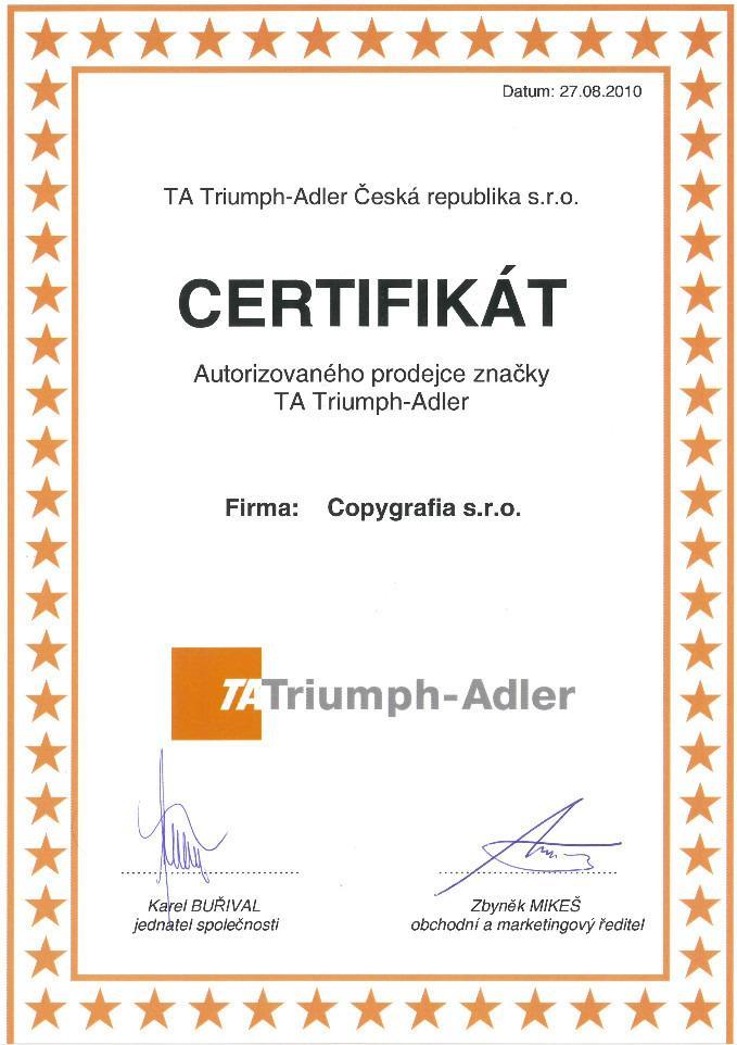 Copygrafia s.r.o. - TRIUMPH - ADLER, KYOCERA, SHARP