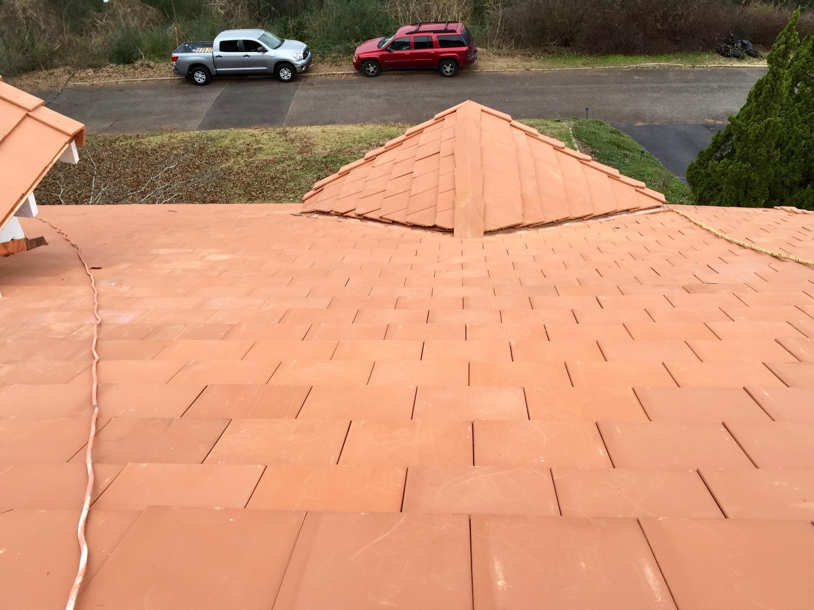 Birmingham clay tile roof.