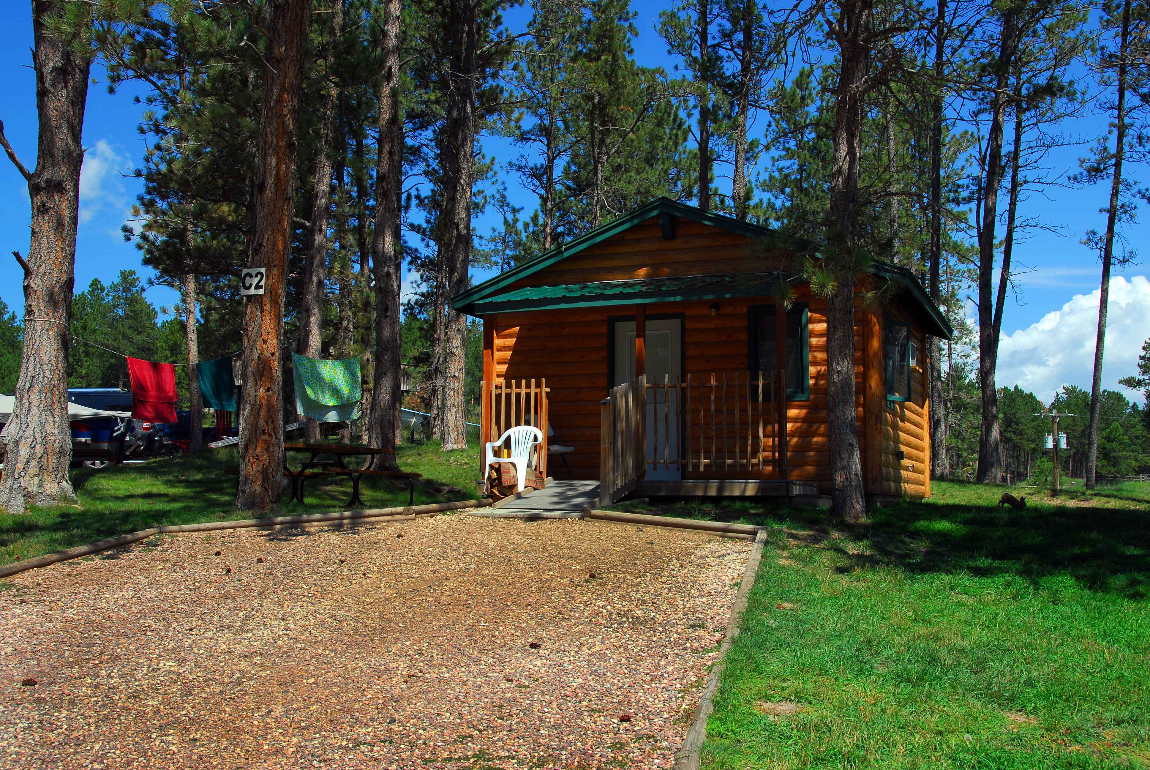 Beaver lake campground in custer sd 57730 for Cabins near custer sd