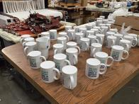 Full color coffee mugs with business logo