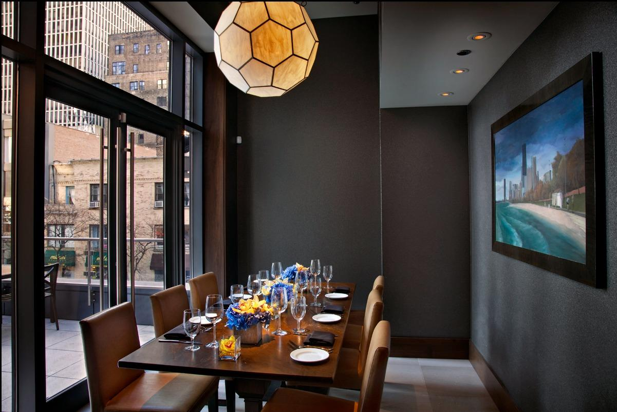 Del Frisco's Double Eagle Steakhouse Chicago Oak Room private dining room