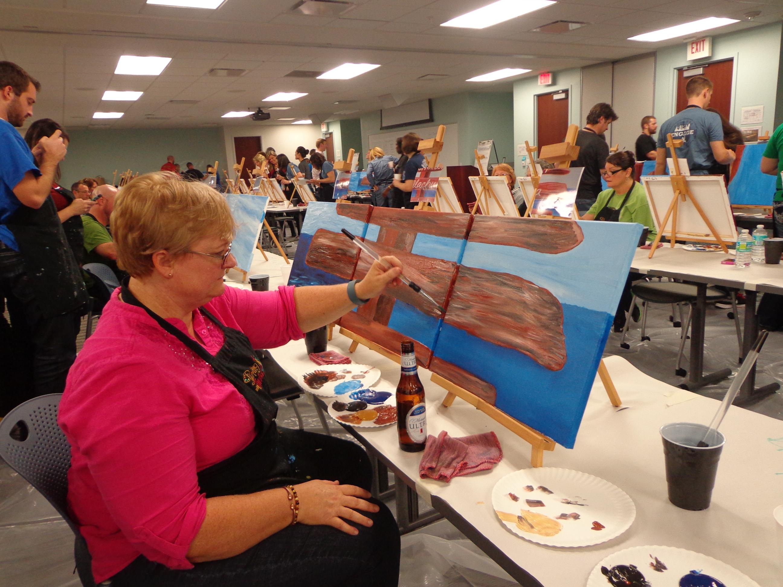 Painting with a twist in tampa fl 33626 for Michaels crafts hours of operation