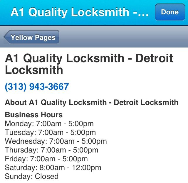 A1 Quality Locksmith - Detroit Locksmith
