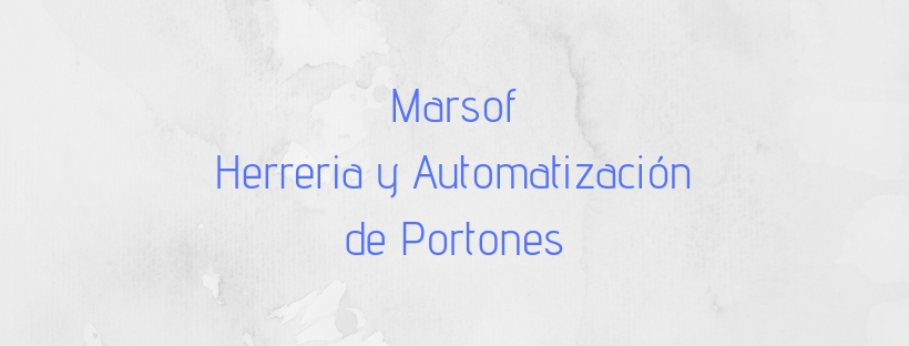 MARSOF - HERRERIA Y AUTOMATIZACION DE PORTONES