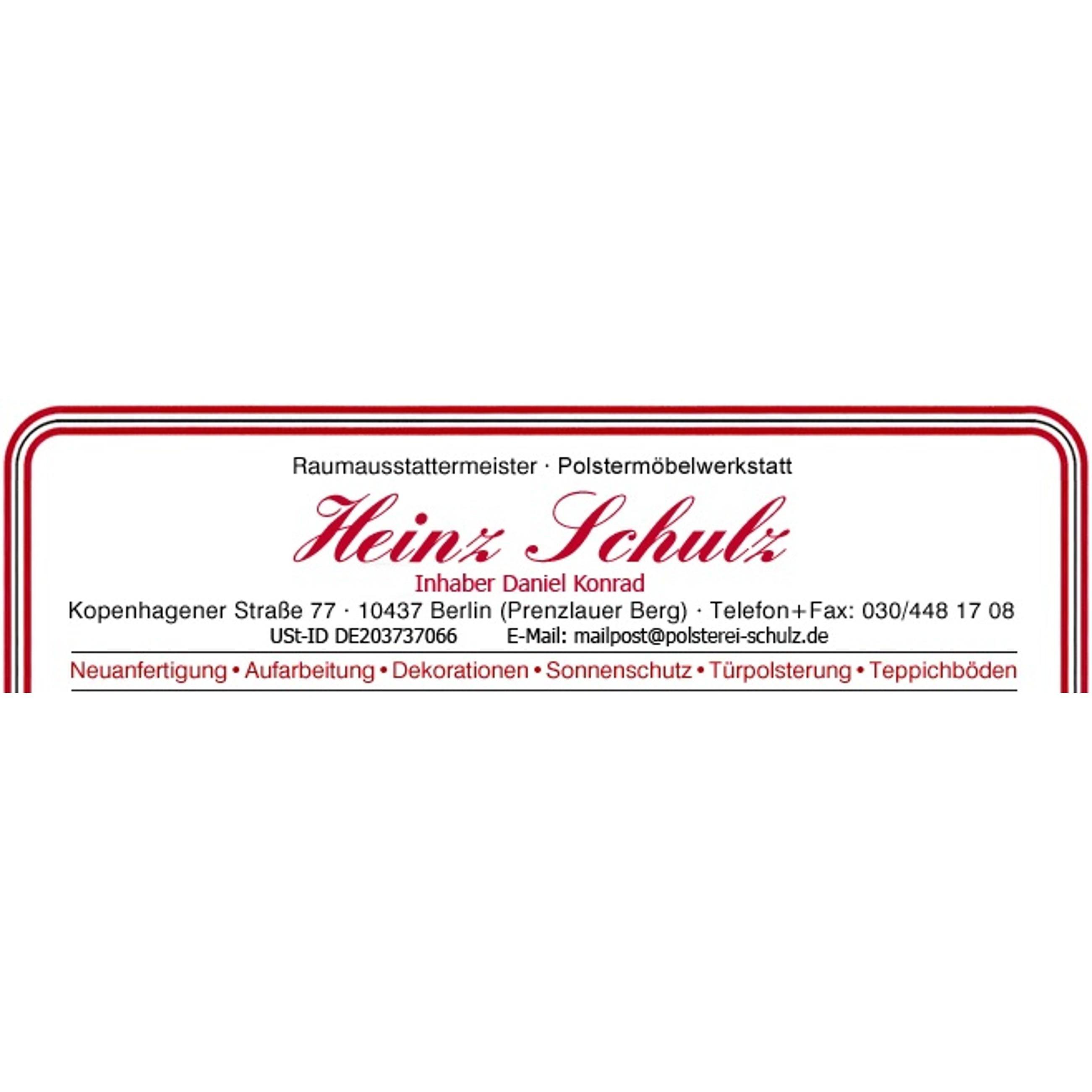 Bild zu Raumausstatter-Meisterbetrieb Heinz Schulz, Inh. D. Konrad in Berlin