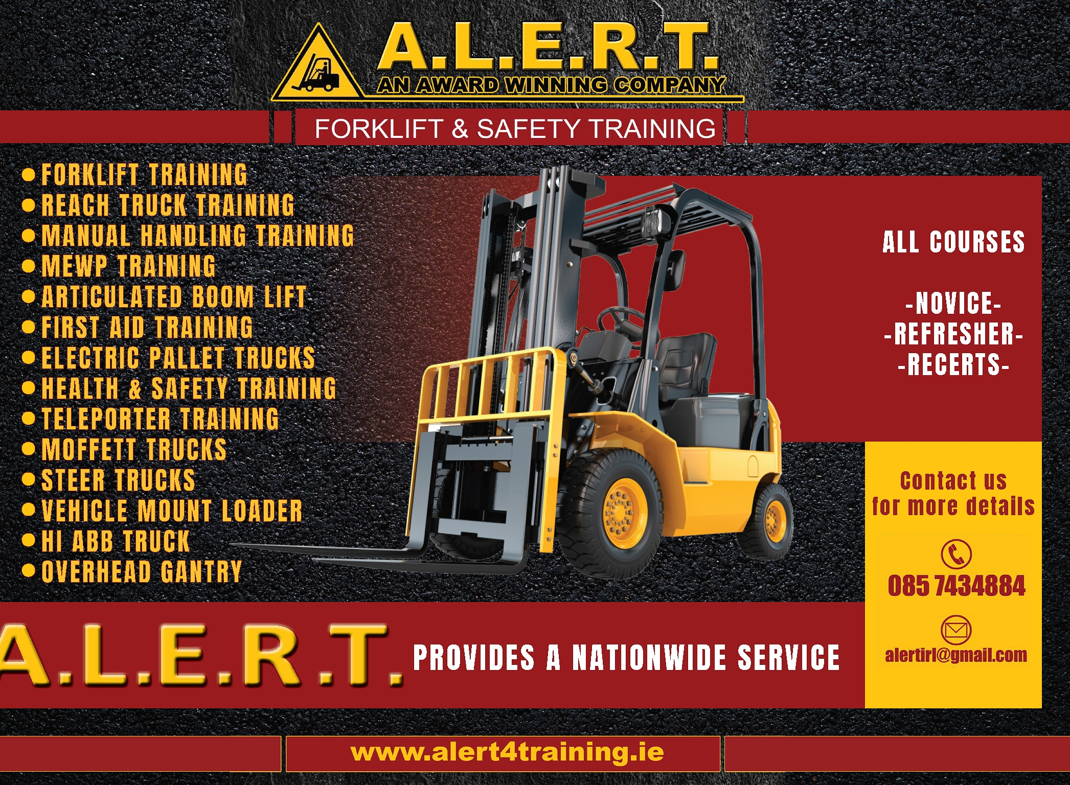 Alert Forklift And Safety Training