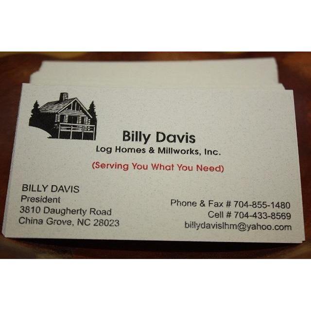 Billy Davis Log Homes And Millworks Inc.