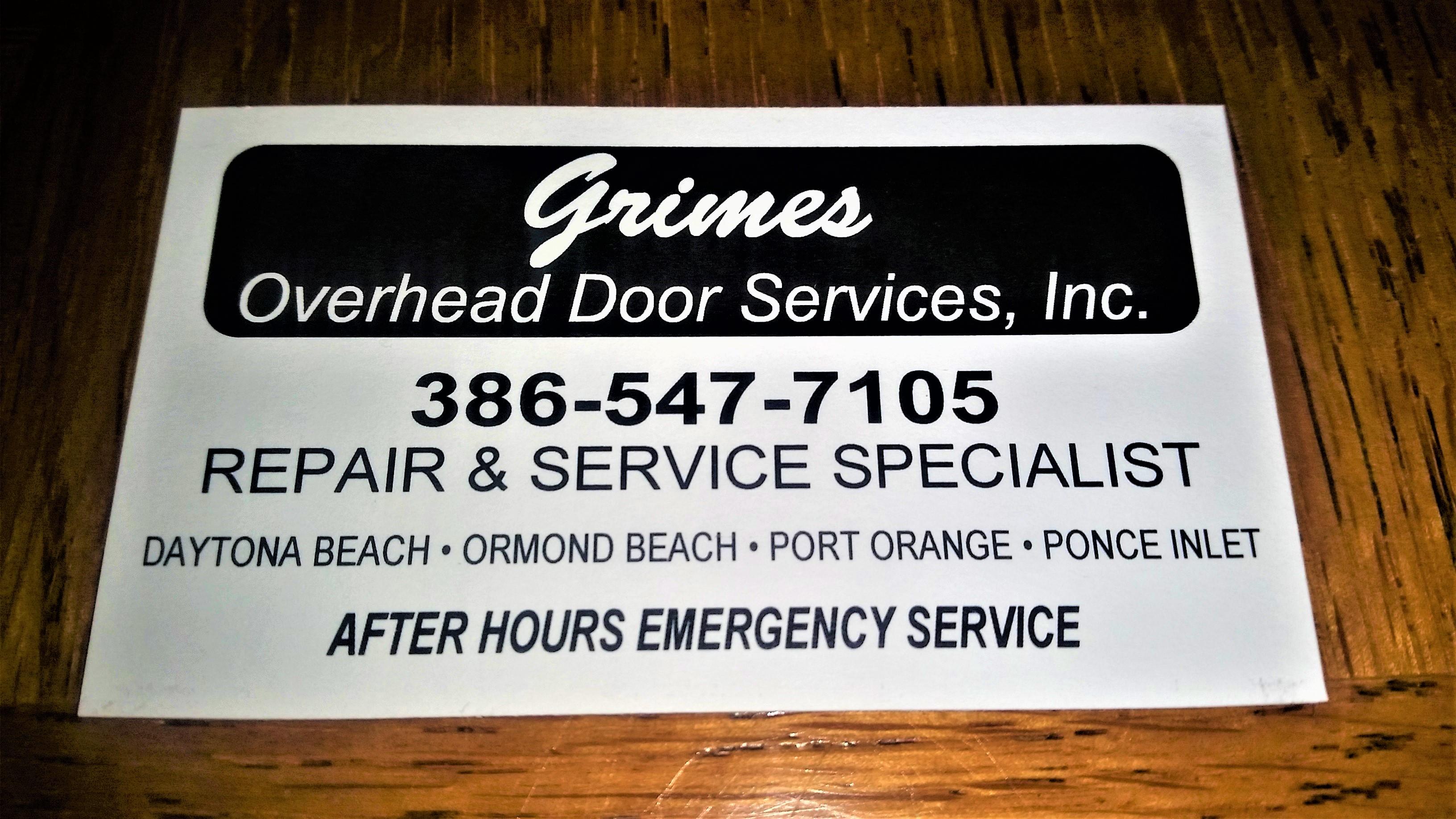 Grimes Overhead Door Services Inc