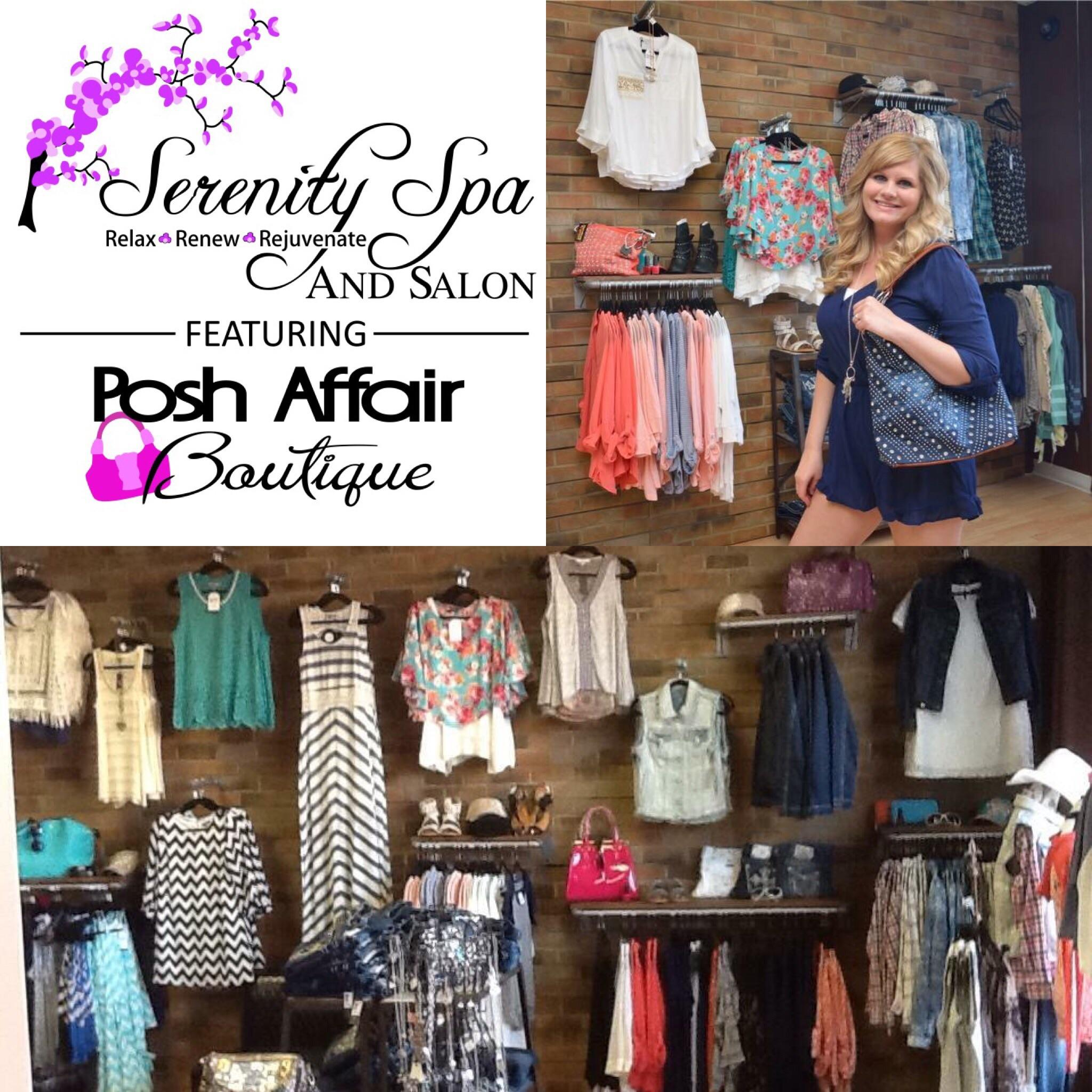 Serenity Spa And Salon Featuring Posh Affair Boutique
