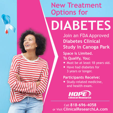 This professional diabetes clinical study, conducted by Hope Clinical Research, is a short-term trial in which you will intake a promising new medication seeking FDA approval. This medication's use is intended to effectively treat your medical condition.