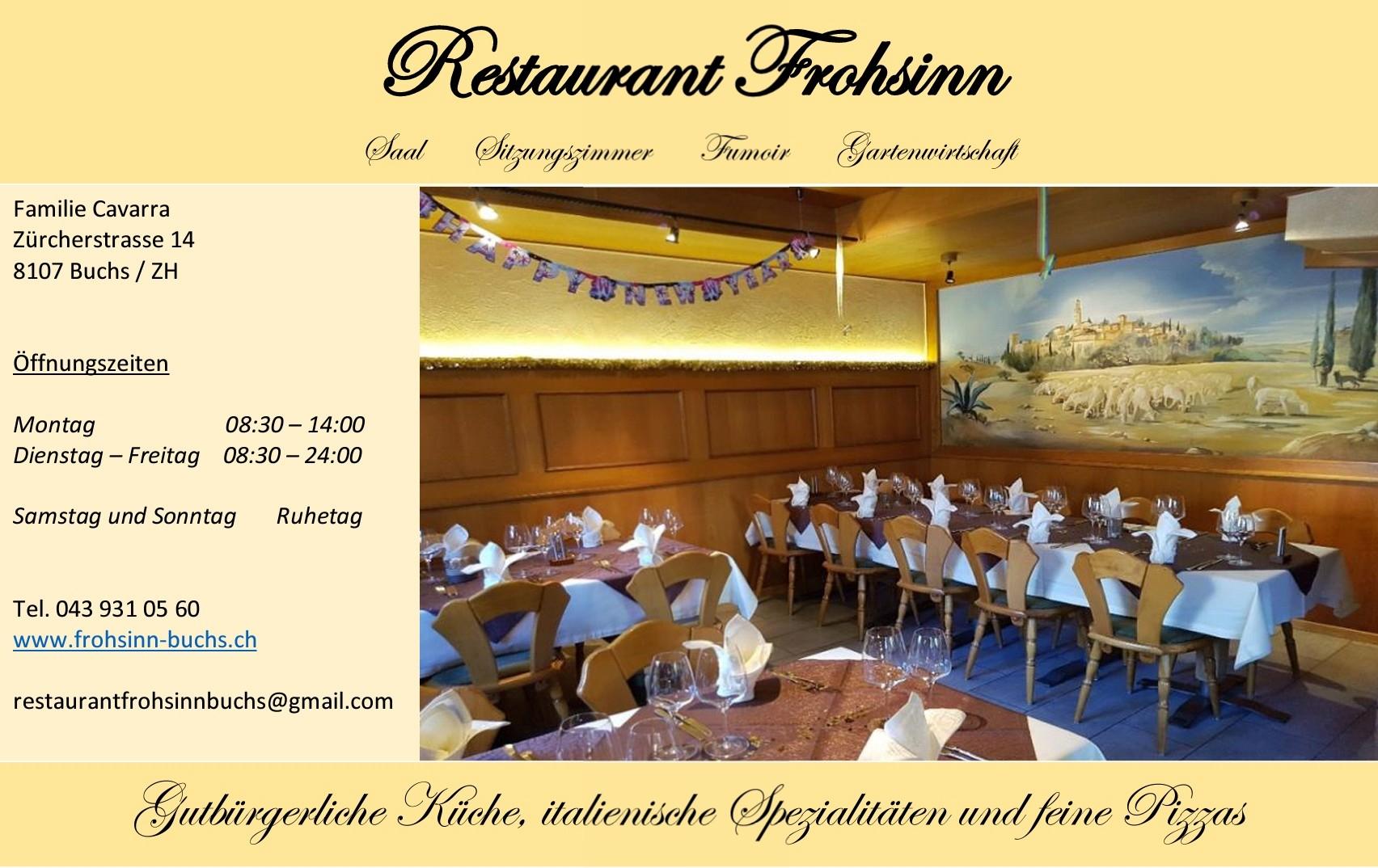 Restaurant Frohsinn Buchs