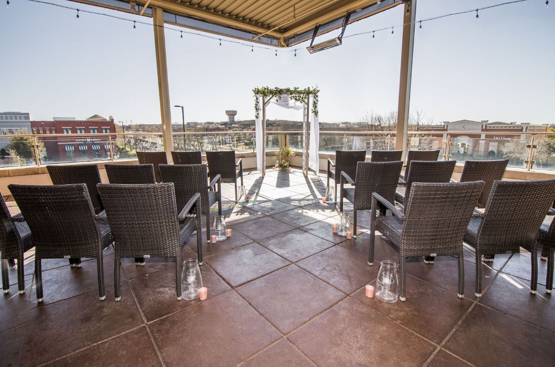 Del Frisco's Grille Southlake Rooftop Patio group dining room
