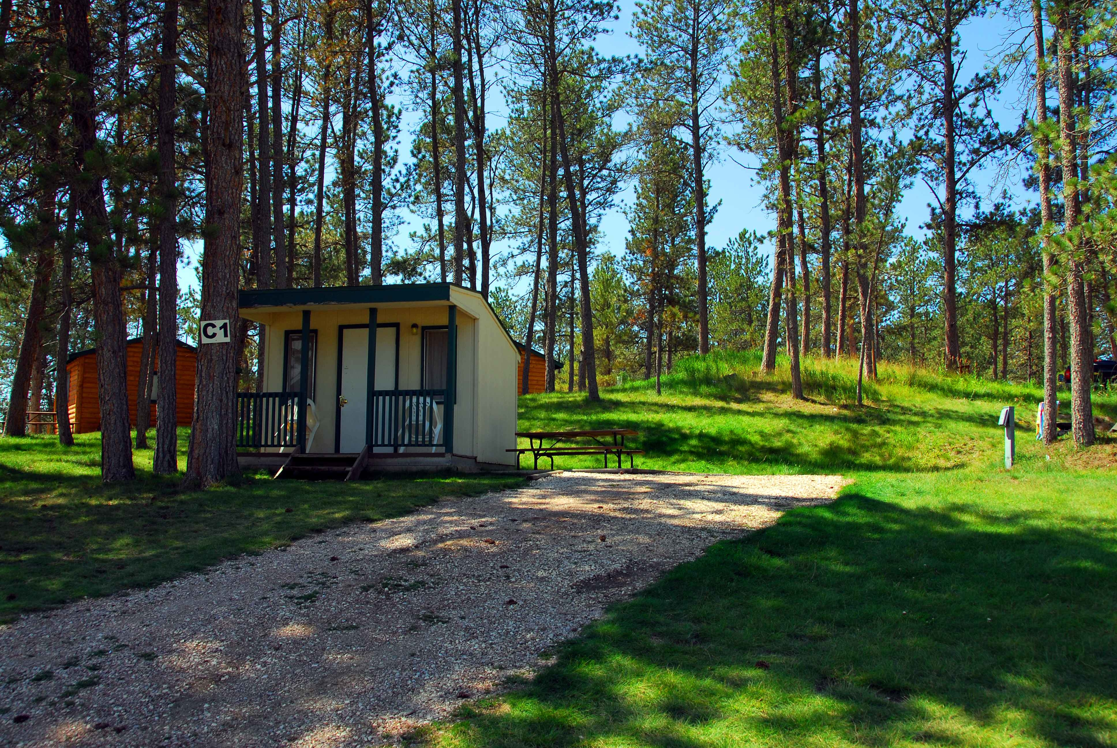 Beaver lake campground custer south dakota sd for Cabins near custer sd