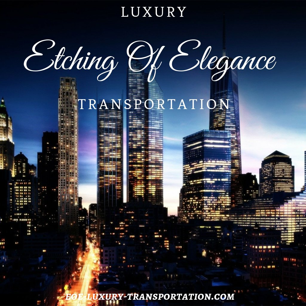 Etching of Elegance Luxury Transportation