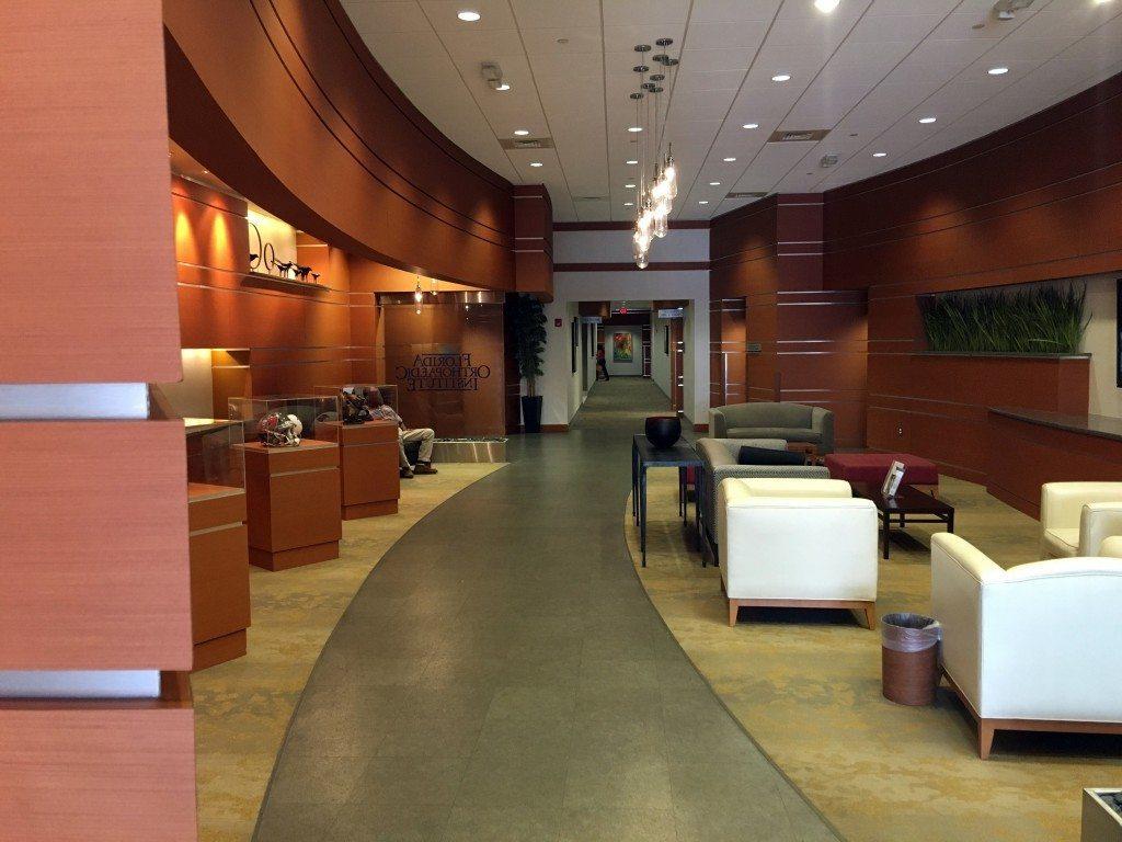 Interior of Florida Orthopaedic Institute & Orthopaedic Urgent Care South Tampa Office