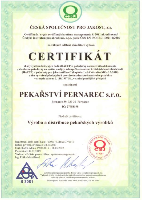 PEKAŘSTVÍ PERNAREC s.r.o.
