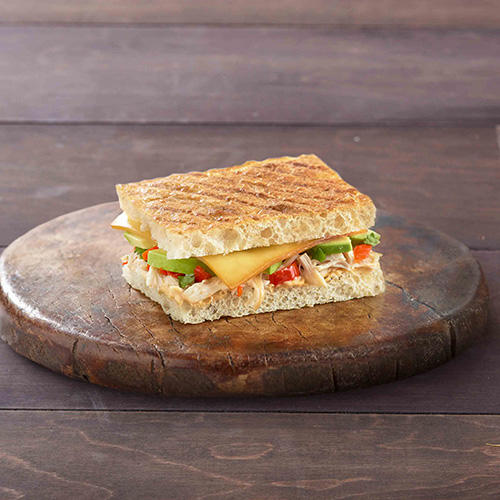 Enjoy our Chipotle Chicken Avocado Melt.