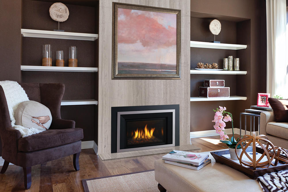 Fireplace Gallery in Edmonton: Regency Horizon Medium Contemporary Gas Fireplace Insert - HRI4