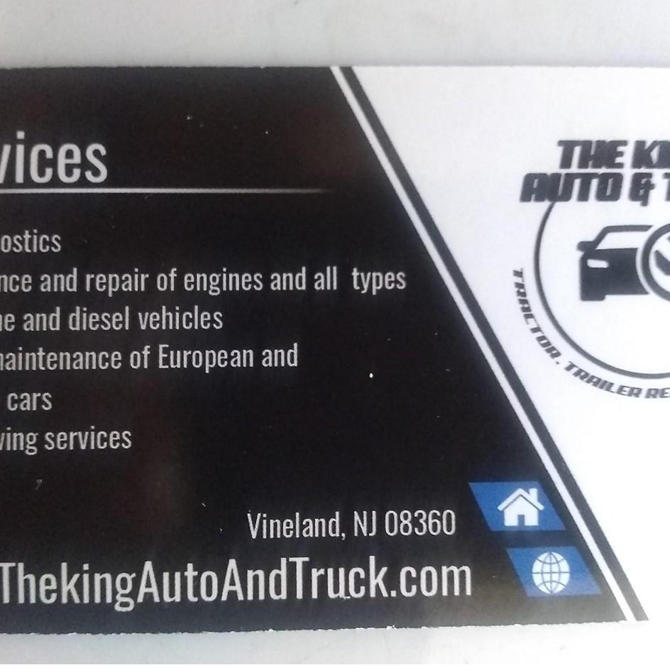 The Kings Auto & Truck Tractor, Trailer Repair Investment - Vineland, NJ 08360 - (856)896-7271 | ShowMeLocal.com
