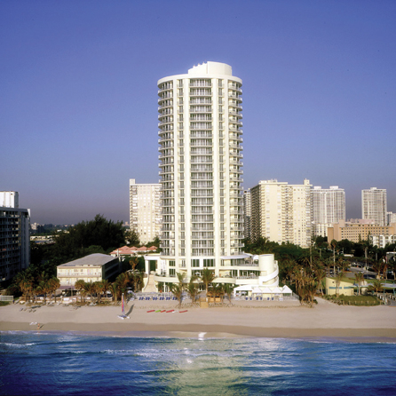 doubletree resort spa  hilton hotel ocean point north miami beach  collins avenue